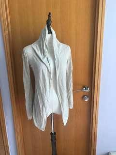 Muji light beige cardigan