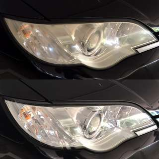 Subaru headlight restoration