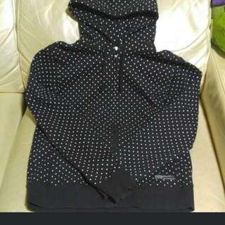 Black chocoolate coat 星星外套 new. Size S
