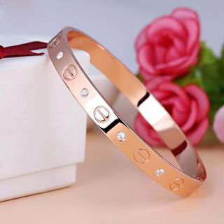 Cute rose gold love bangle bracelet gold silver