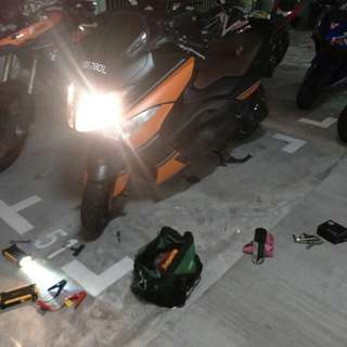 "Bike Been Rescue (Yamaha Tmax 500)             Location: Keat Hong Close (Carpark)             Time: 1.23am (Midnight)            Date: 19 Feb 18           Cause: Flat Battery (Jump Start)           ""Kureiji Response Team""          Emergency Service"