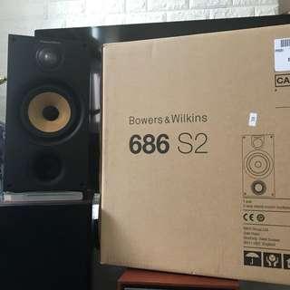 <<激罕>>  99.99 新,B&W 686 S2  ,超靚聲,有塵網,有盒,100%操作正常,絕無維修。全新無分別,極少放盤