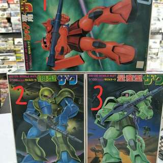 1/100 Gundam Model Kits Each $12.00