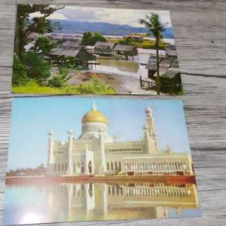 Malaysian airways postcard 2 pcs