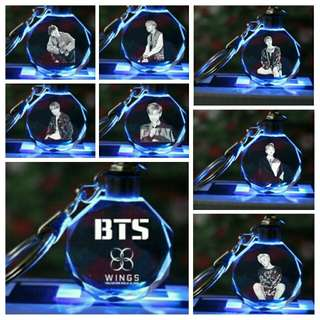 BTS LED Crystal Keychain