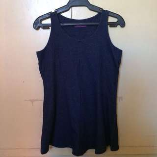 Natasha Blue Sleeveless Top