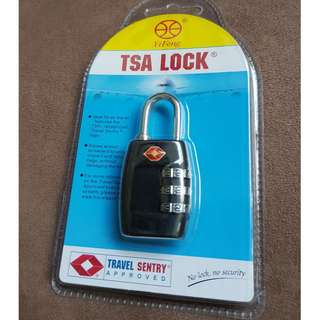 TSA Travel Luggage Padlock, Lock, Travel Bag