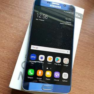 Samsung Galaxy Note 5 Mulus 99% Fullset Minus Shadow
