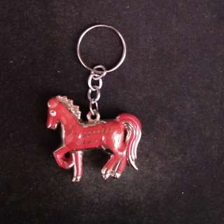 Keychain red horse