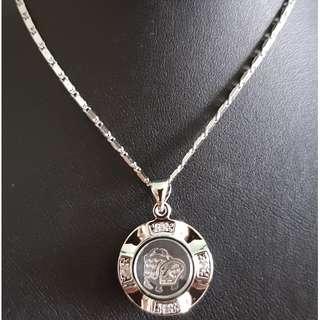 Chinese Ox zodiac lucky charm pendant (时来运转生肖)