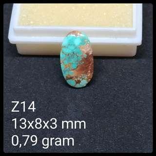 Batu Pirus Persia Z14 Natural Turquoise