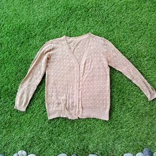 Thin knitted olive cardigan #20under