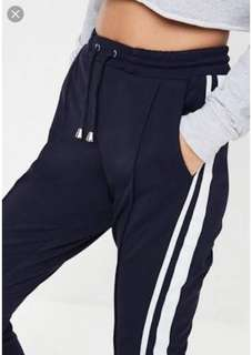 Navy Side Striped Joggers