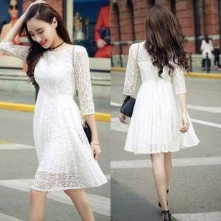 Pleated Lace Dress (PO)