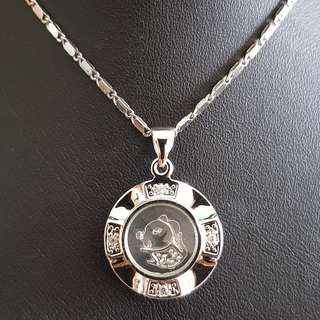Chinese Rat zodiac lucky charm pendant (时来运转生肖)