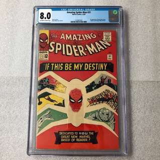 Amazing Spider-Man 31 Cgc 8.0 ( 1st Gwen Stacy )
