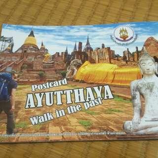 泰國Ayutthaya 大城明信片