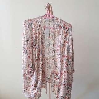 F21 Floral Kimono Cardigan