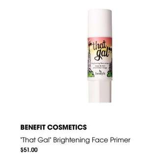 "❗️FREE NM❗️Benefit Cosmetics ""That Gal"" Brightening Face Primer"