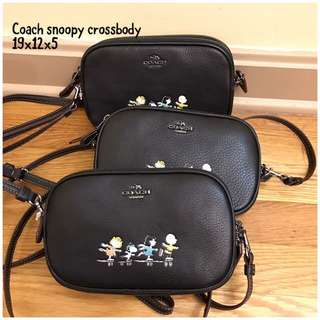 Coach snoopy sling bag