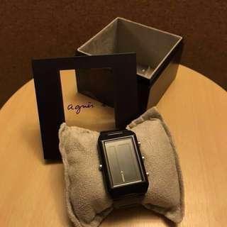 Agnes b 黑色電子鋼錶 Agnes b black watch