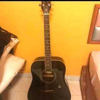 Epiphone Acoustic Guitar +bag+stand+pick