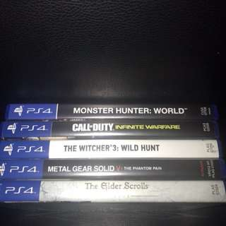 PS4 Games//Monster Hunter and more