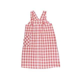紅白格子 原宿感 背心洋裝