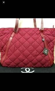 Chanel maroon bag
