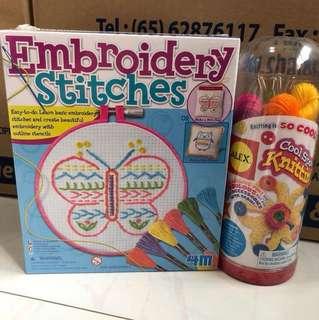 Embroidery stitches/knitting kit