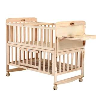 Wood baby cot all in one