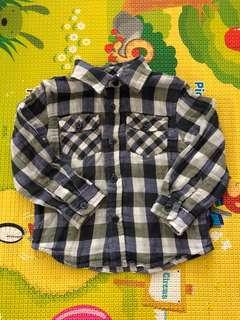 Zara Baby Checkered Blue Shirt 9-12M