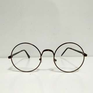 INSTOCK {brown} <Korean ulzzang round circle> fake spectacles fake specs no degree frame