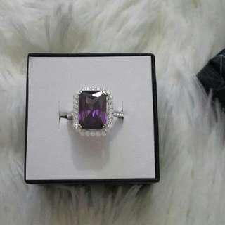 Purple & Silver Ring