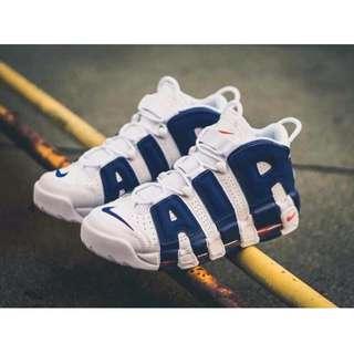 🚚 (降價)NIKE AIR MORE UPTEMPO 大Air 藍白最新量款US11 ONLY