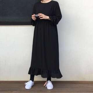 Retro small spring fishtail dark dress