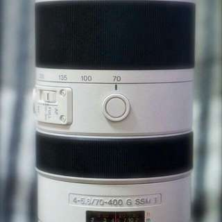 Sony A-mount. 70-400mm. G lens