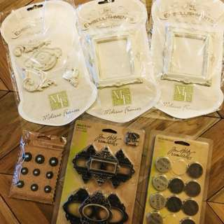 Craft embellishments, charms and trinkets (assorted brands)
