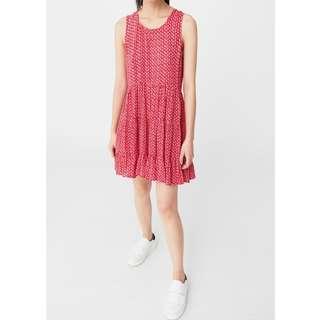 Mango Red Flowy Dress
