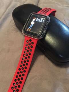 Apple watch nike Band Red Black 42 uk M/L