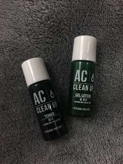 Ac Clean Up Toner and Lotion Trial Set
