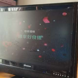 Hisense電視機22吋led,有hdmi/VGA,只有模擬接收非高清接收