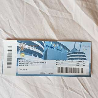 Manchester City Home match ticket