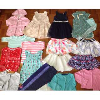 Carters and Oshkosh Girls sizes 24mnths and 2t