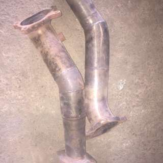 R35 custom downpipes
