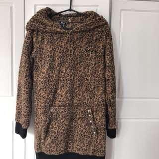 豹紋毛毛衛衣