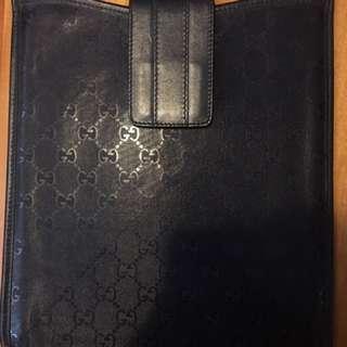 Gucci Dark Grey Microguccissima Ipad Case