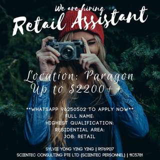 Retail Assistant - Premium Fashion Brand (Apparel/Paragon)