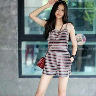 Set stripe top and shorts