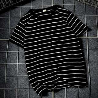 Black White Striped Shirt
